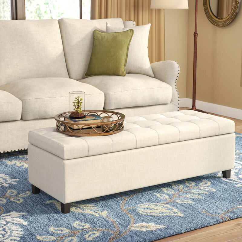 Darby Home Co Foosland Tufted Upholstered Storage Ottoman Reviews