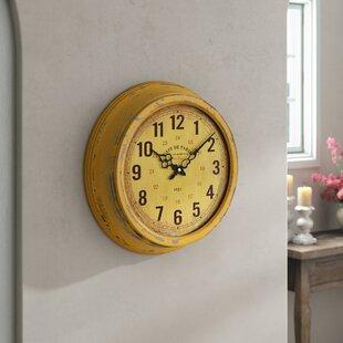 Yellow 16 Wall Clock