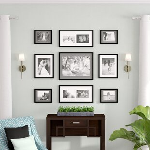 Koontz 9 Piece Wood Matted Picture Frame Set