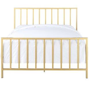 Ackles Slat Metal Queen Panel Bed