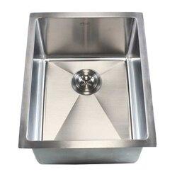 """Undermount Kitchen Single Sink emodern decor ariel 16"""" x 20"""" single bowl undermount kitchen sink"""