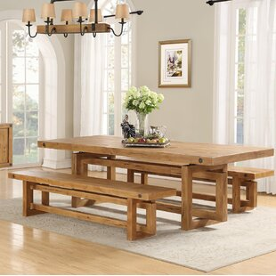 Edgewood Dining Set With 2 Benches