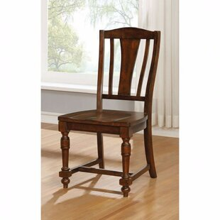 Amold Transitional Solid Wood Dining Chair (Set Of 2)