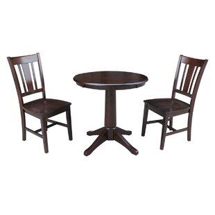 Shullsburg 3 Piece Solid Wood Dining Set