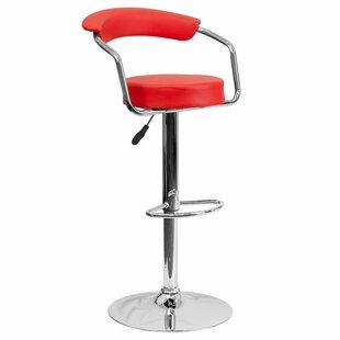 Nerys Modern Adjustable Height Bar Stool (Set of 2)