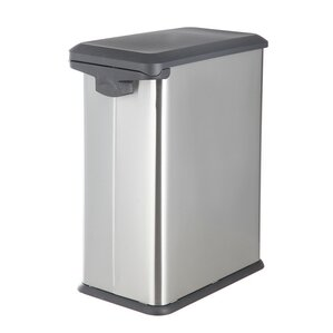 stainless steel 79 gallon step on trash can