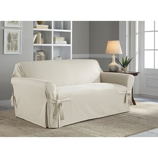 Beau Cotton Duck Box Cushion Loveseat Slipcover