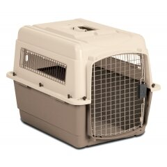 Medium Vari Ultra Fashion Dog Kennel® in Bleached Linen and Beige by Petmate
