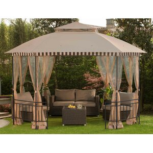 Meijer 10 Ft. W x 12 Ft. D Steel Permanent Gazebo