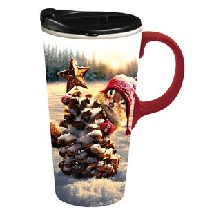 Aliza Holiday Squirrel Travel Mug