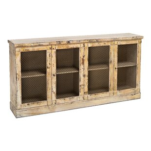 Garvey 4 Door Travertine Mesh Sideboard