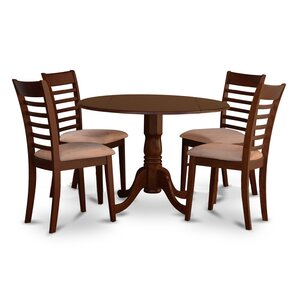 Dublin 5 Piece Dining Set by East West Furniture