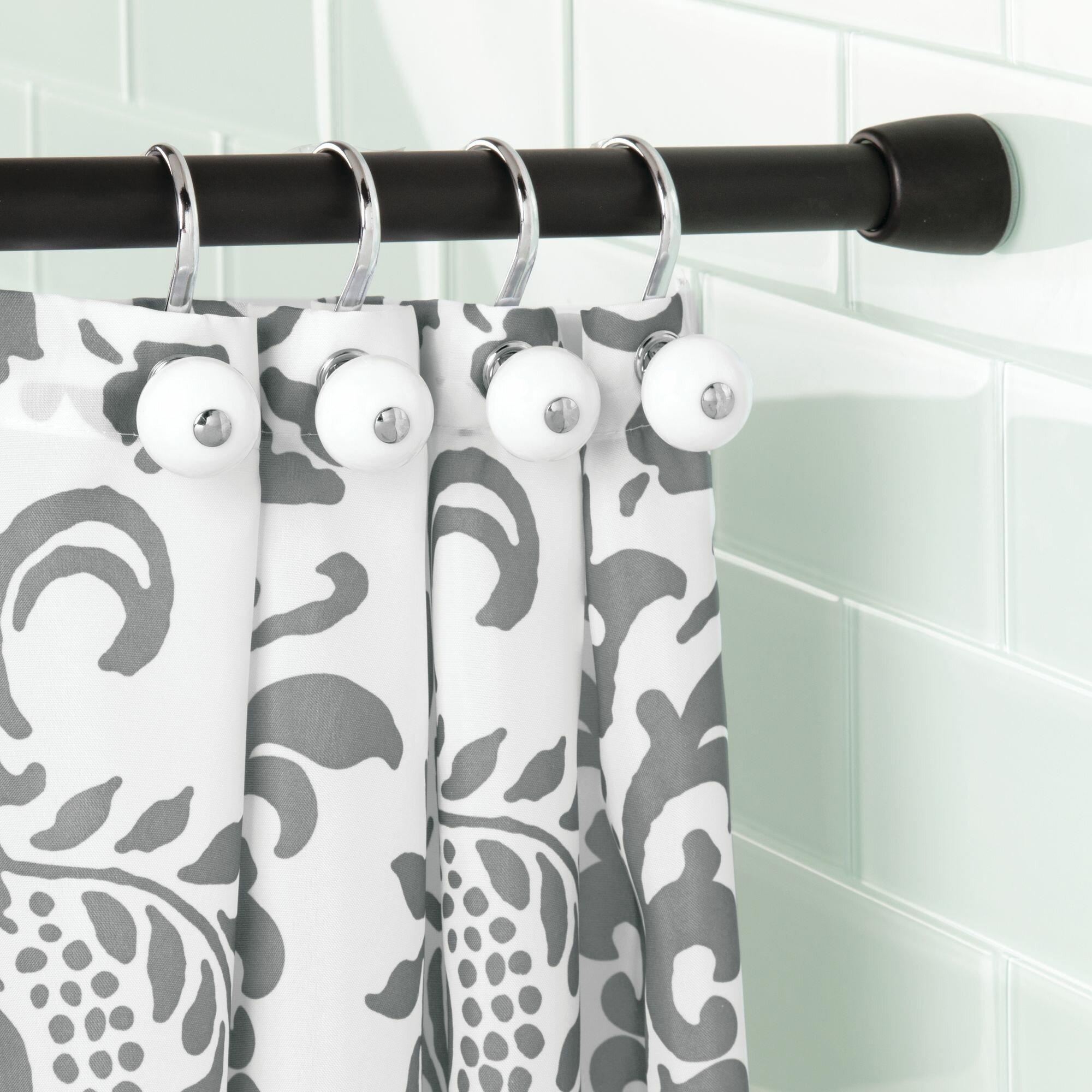 InterDesign Cameo 108 Adjustable Straight Tension Shower Curtain
