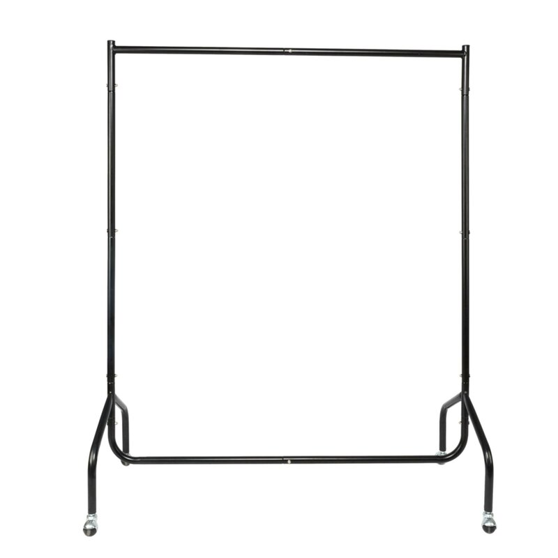 Elkin 2 Sections Moveable Portable Clothes Rack