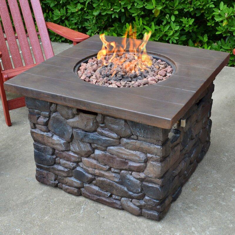 Yosemite Stone Propane Fire Pit Table