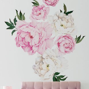 Big Pink Flower Wall Decals Wayfair