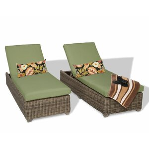 Cape Cod Chaise Lounge with Cushion (Set of 2)