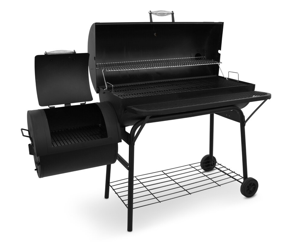 charbroil american gourmet deluxe offset charcoal smoker. Black Bedroom Furniture Sets. Home Design Ideas