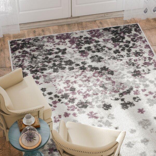 sensational design accent rugs for bathroom.  Ales Ivory Purple Area Rug Wayfair