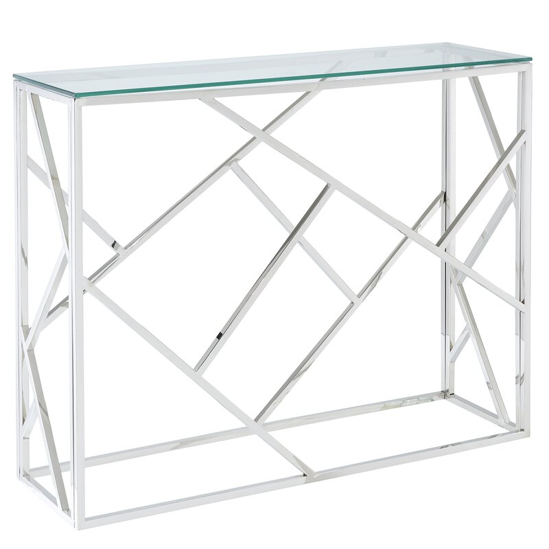 Menard Stainless Steel Console Table