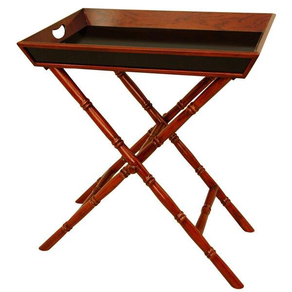 Oriental Furniture Bamboo Tea Tray And Trestle Stand Set U0026 Reviews | Wayfair