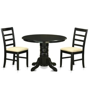 Langwater 3 Piece Pedestal Wood Dining Set by Be..