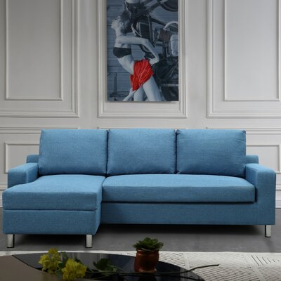 Dark Blue Denim Sectional Sofa Wayfair