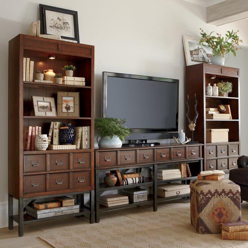 entertainment center living room. Danforth Entertainment Center Birch Lane  Reviews Wayfair