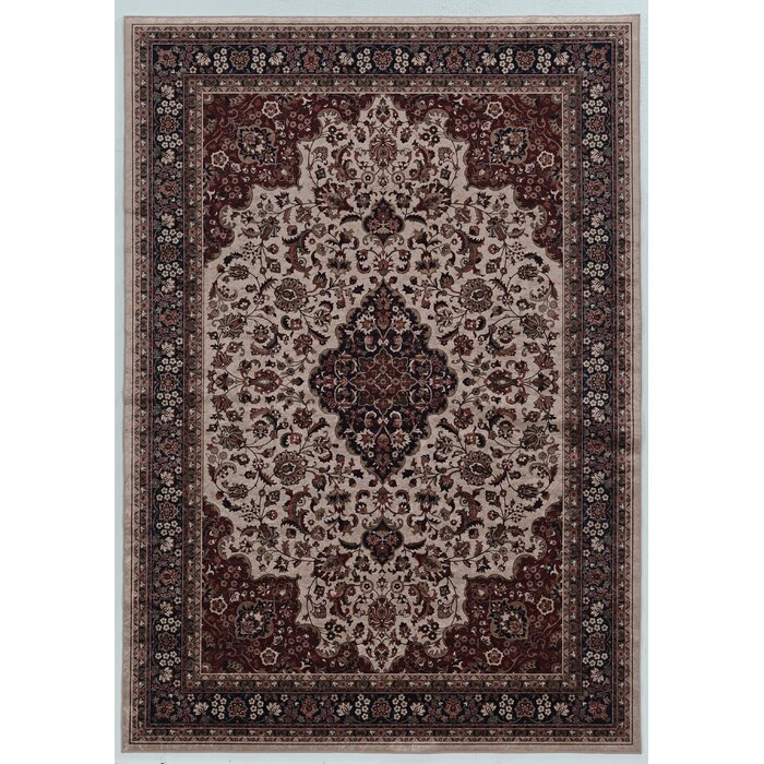 Emanuel Cream Brown Area Rug