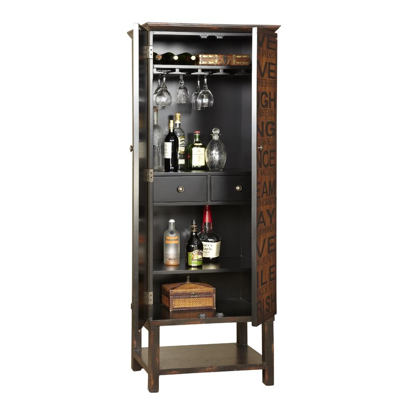 Firefly Hollow Bar Cabinet With Wine Storage