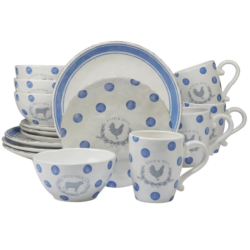 August Grove Fullerton 16 Piece Dinnerware Set, Service for 4