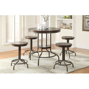 Bronson Metal 5 Piece Counter Height Dining Set