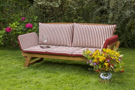 Garden bench made of solid wood