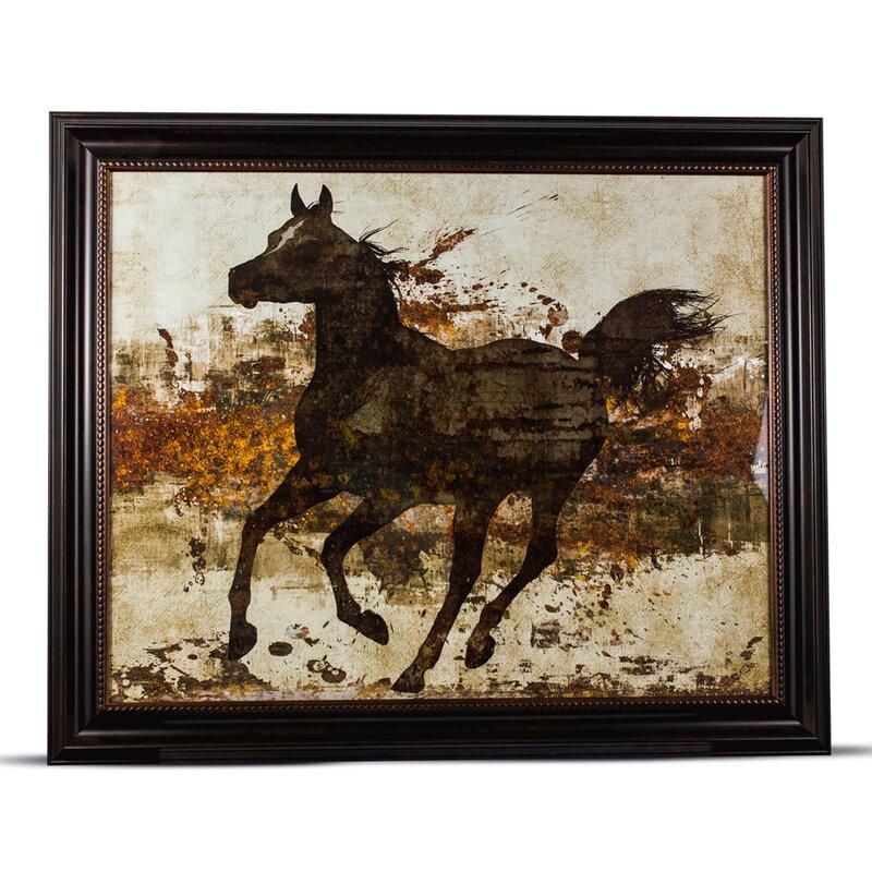 CYRG \'Running Horse\' Framed Painting Print on Canvas & Reviews | Wayfair