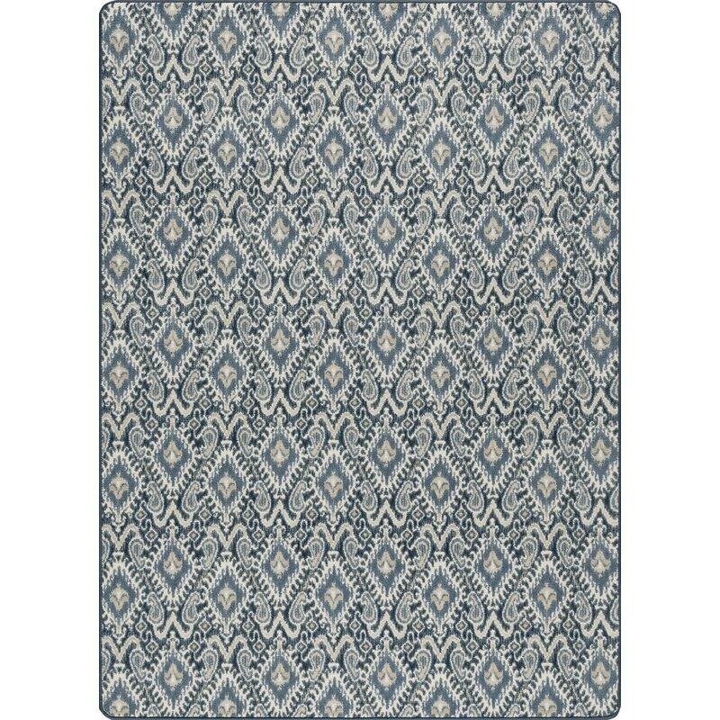 Bungalow Rose Glastonbury Crafted Hand-Tufted Indigo/Black/Beige Area Rug, Size: Rectangle 21 x 78