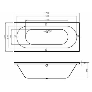 Hilton Double Ended Bathtub by Home Etc