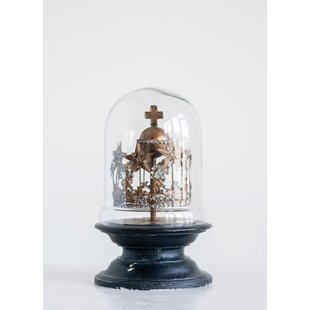 963c076a66d50 Kennamer Tin Crown with Stars & Cross in Mango Wood/Glass Cloche or Water  Globe