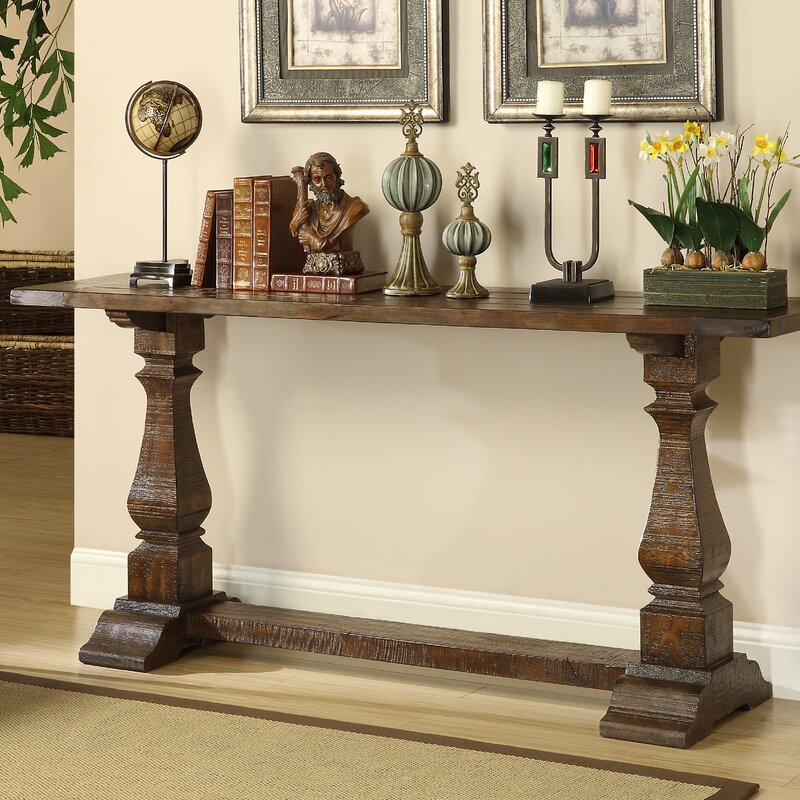 Sofa Table Decorations: Louise Console Table In Brown & Reviews