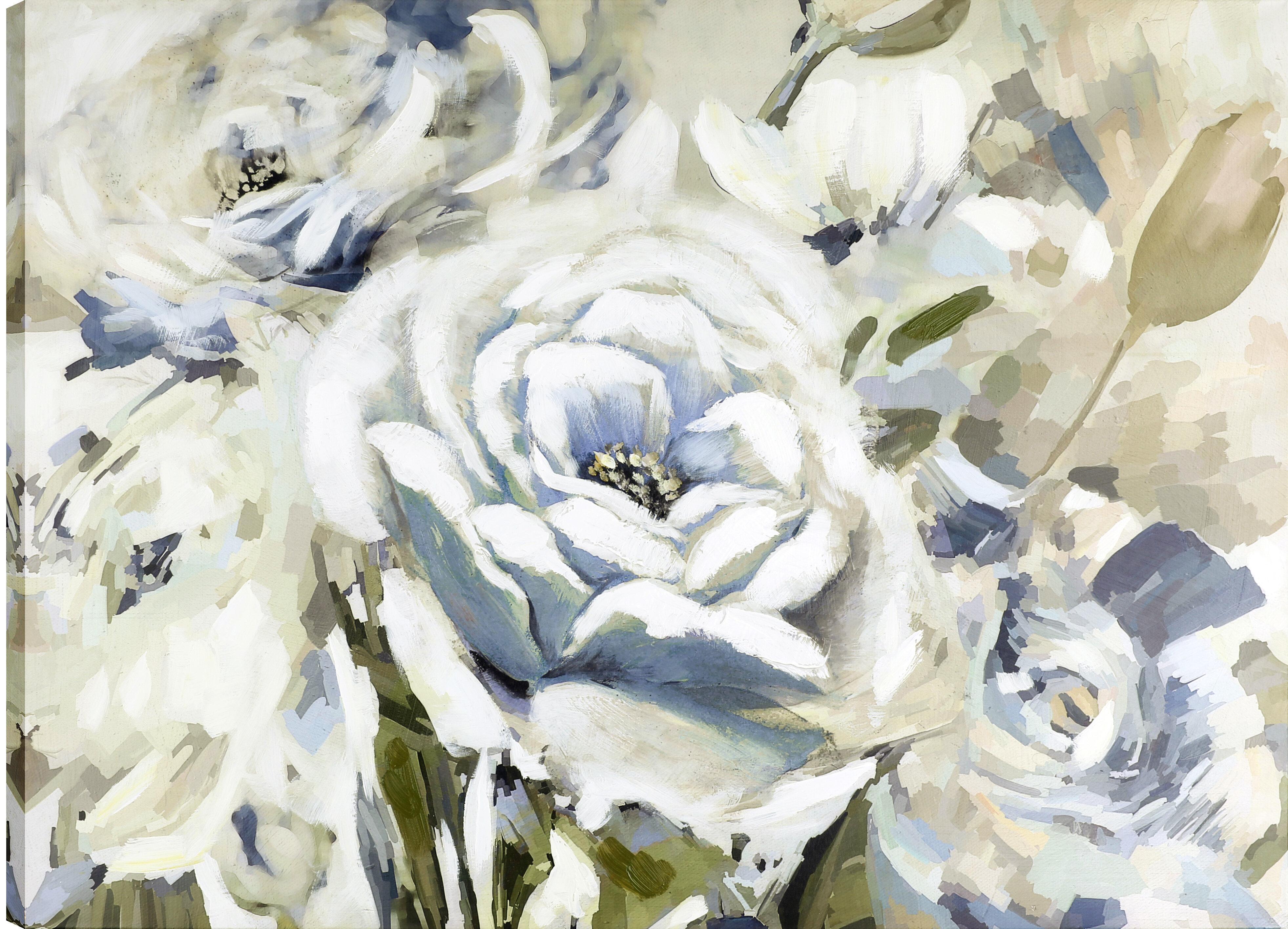 Rosdorf park the white flower ii oil painting print on wrapped rosdorf park the white flower ii oil painting print on wrapped canvas wayfair mightylinksfo
