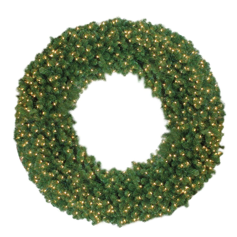 the holiday aisle olympia pine christmas lighted wreath wayfair