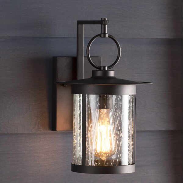 Gracie Oaks Lavardens 1-Light Outdoor Wall Lantern
