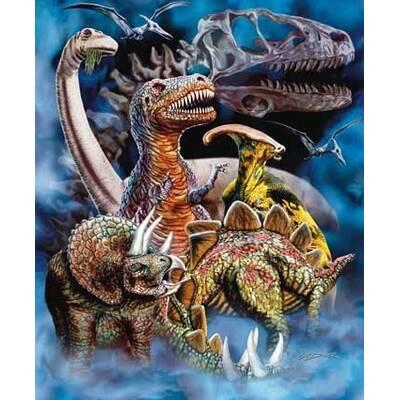 1ba99df9e2 Ben and Jonah Royal Plush Extra Heavy Queen Size Dinosaur Pile ...