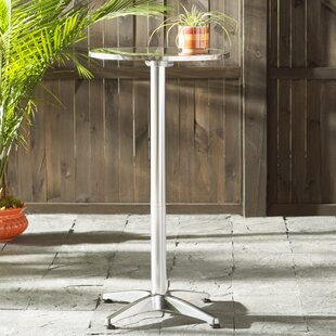 Bar height patio tables youll love wayfair corns folding aluminum bar table watchthetrailerfo