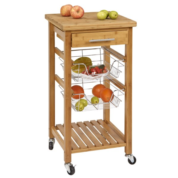 CORNER HOUSEWARES Bamboo Kitchen Cart with Storage & Reviews ... on bookcases with storage, bedroom sets with storage, bars with storage, vanities with storage, hutches with storage, wine racks with storage, butcher block with storage, bakers racks with storage, furniture with storage, stands with storage, desks with storage, dining sets with storage, cutting boards with storage, chairs with storage, filing cabinets with storage, dinette sets with storage, storage benches with storage, medicine cabinets with storage, shelves with storage, coolers with storage,