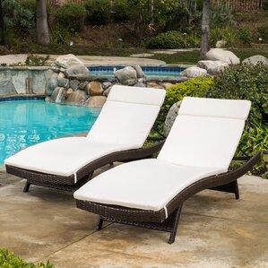 ferrara chaise lounge with cushion set of 2