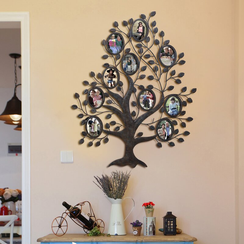 Red Barrel Studio Medlock 10 Opening Decorative Family Tree Wall
