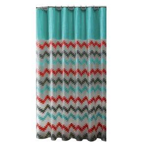 PEVA Chevron Design Shower Curtain Set