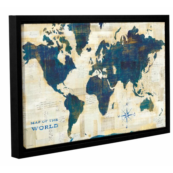 Ivy bronx world map collage framed painting print on wrapped canvas ivy bronx world map collage framed painting print on wrapped canvas reviews wayfair gumiabroncs Images