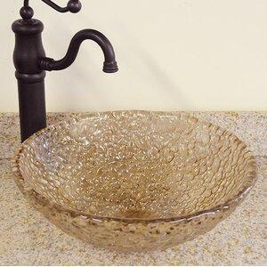 Pebble Glass Circular Vessel Bathroom Sink