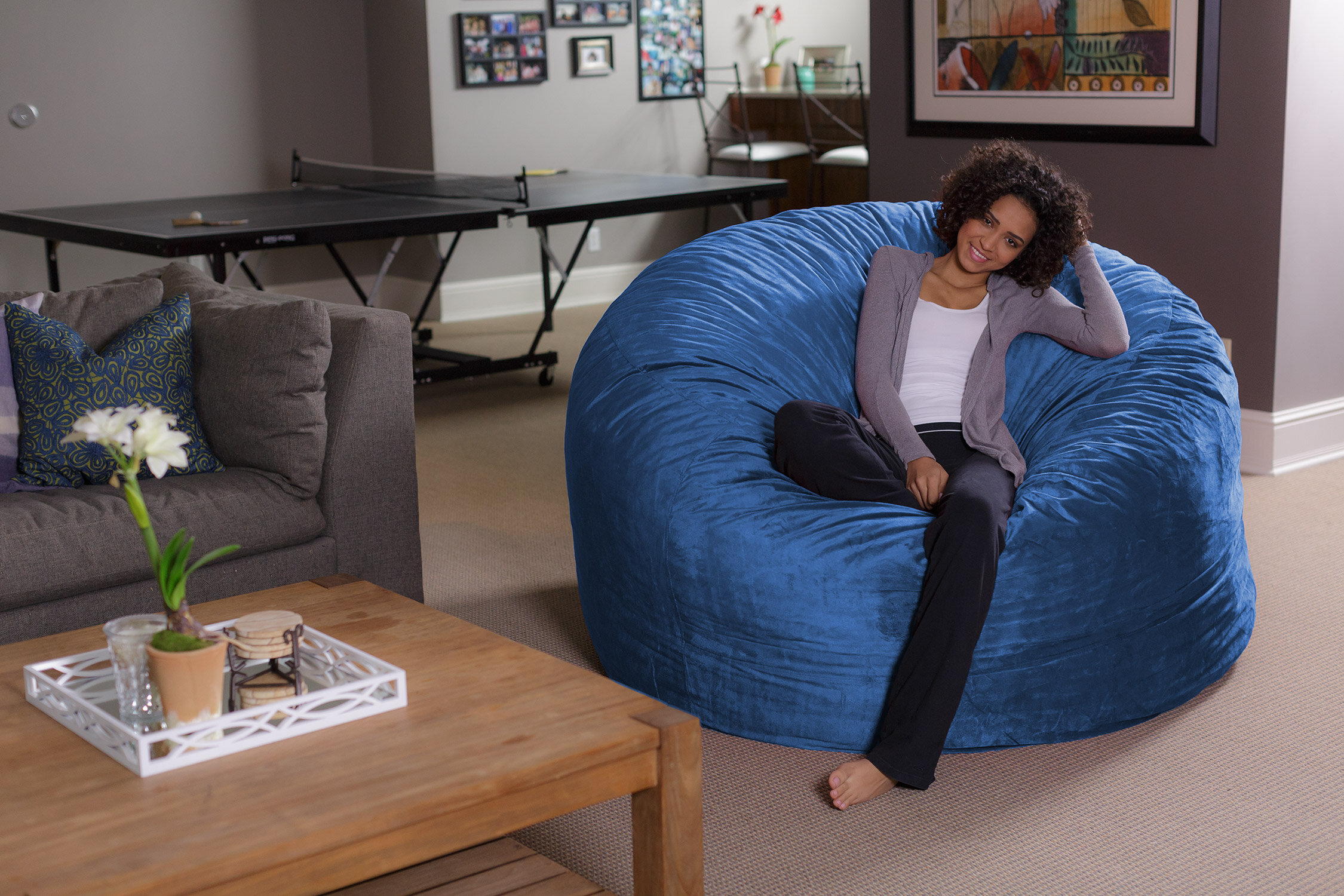 Ebern Designs Bean Bag Chair U0026 Reviews | Wayfair